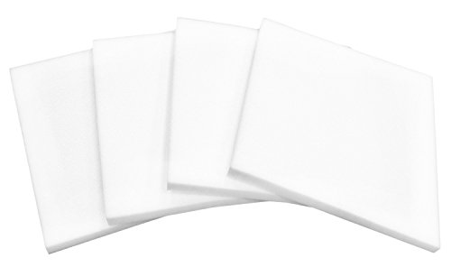 4-Pack White Polyurethane Foam Cushion Inserts; Square 16x16 Foam Tiles for Upholstery Projects, Pillows, & DIY Home Decor