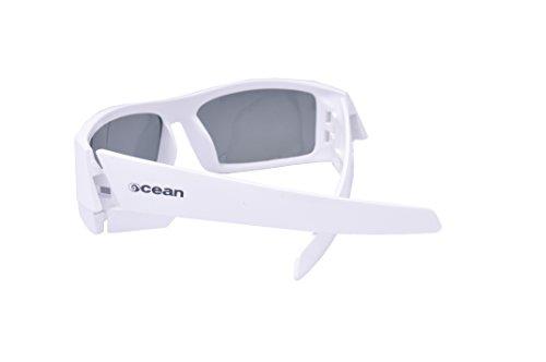 Ocean Sunglasses - Hawaii - lunettes de soleil polarisées  - Monture : Blanc Laqué - Verres : Fumée (11400.2)