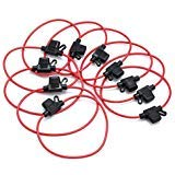 CAMWAY 10PCS Inline Fuse Holder ATM/ATC Waterproof Mini Blade Automotive Wire Fuse Holder 14 AWG for Car Bike 12V