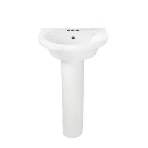 American Standard 0403.400.020 Tropic Petite Pedestal 4-Inch Lavatory Sink, White