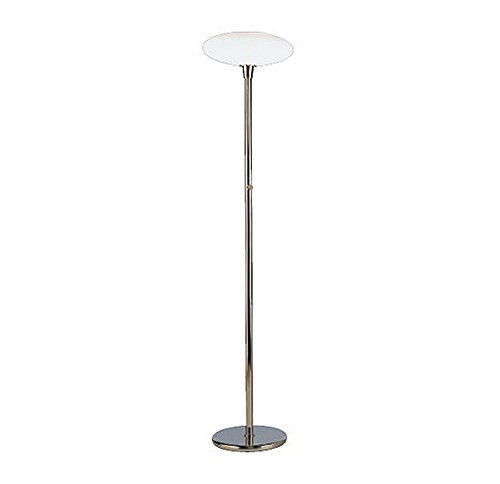 Robert Abbey 2045 Lamps with Frosted White Cased Glass Shades, Polished Nickel Finish - Robert Abbey Nickel Polished Floor Lamp