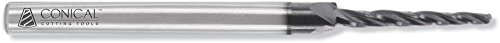 Conical Tool Company CM-AAX-002-BE 1.5 Carbide Miniature Tapered End Mill - 3 Flute x 1/16'' Tip x 0.0887'' Large Diameter x 1/8'' Shank x 1/2'' Length of Cut x 2 1/2'' Overall Length w/ Ball End Review