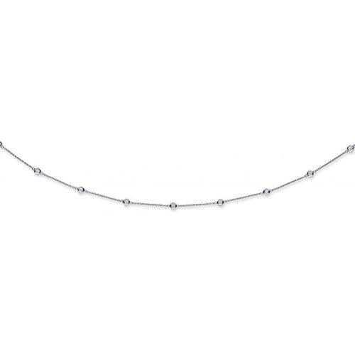 Or blanc 18ct 1,00CT carats Diamant Chaîne (45,7cm/45cm)