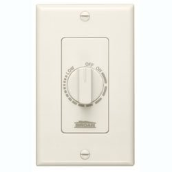 Broan 57V Electronic Variable Speed Control Ivory 3 amp capacity 120V Bath fan control (Fan Speed 3 Dial Control)