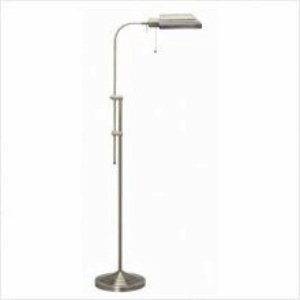 Cal Lighting BO-117FL-BS Floor Lamp with No Shades, Brushed Steel Finish