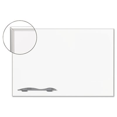 Ultra-Trim Magnetic Board, Dry Erase Porcelain/Steel, 48 x 33 3/4, White/Silver, Sold as 1 Each by Best-Rite (Image #2)