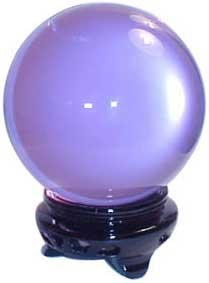 AzureGreen Fortune Telling Toys Crystal Balls Divination Tool See The Future 95mm Lavender Fine Quartz Crystal 3 5/8 by AzureGreen (Image #1)