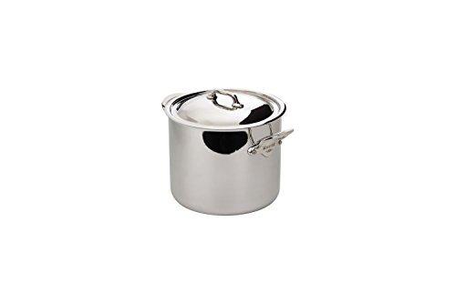 Mauviel M'Cook Ferretic Stainless Steel Stock Pot, 9.1 Quart