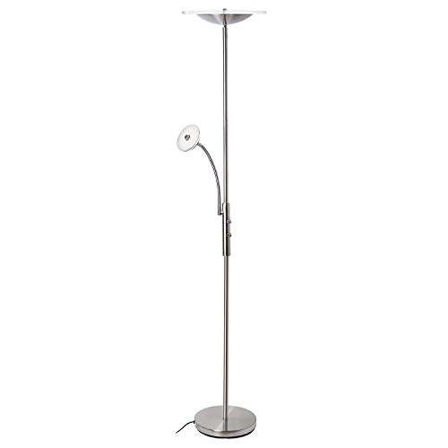 SUNLLIPE LED Torchiere Floor Lamp with Reading Light 18W