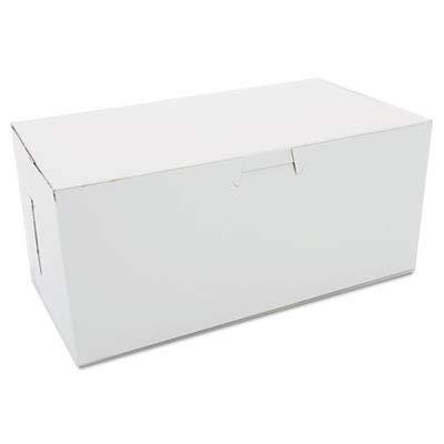 Southern Champion Tray 0949 Premium Clay Coated Kraft Paperboard White Non-Window Lock Corner Bakery Box, 9