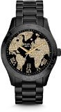 Michael Kors Layton World Atlas Pave Dial SS Quartz Ladies Watch MK6091