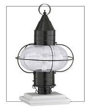 Norwell Lighting 1511-GM-CL Classic Onion - One Light Medium Post, Glass Options: Clear Glass, Choose Finish: GM: Gun Metal