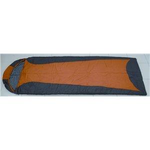Van Allen Ultralight 210T - Saco de montañismo, alpinismo y trekking, color negro/naranja: Amazon.es: Deportes y aire libre