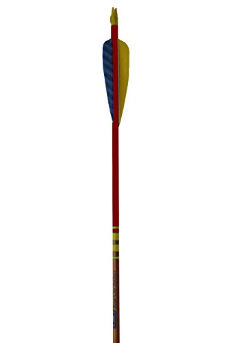 Rose City Archery Port Orford Cedar Hunter Elite Arrows with 4-Inch Length Parabolic Fletch