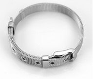 Lokman Fashion Stainless Steel Bracelet wristband, Perfect For DIY 8mm Slider Charms Project, L 21CM, W 0.8 CM