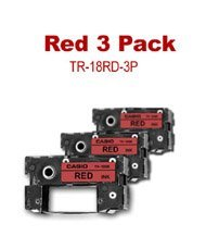 Casio 3PC SET OF RED RIBBON FOR..... ( TR-18RD-3P )