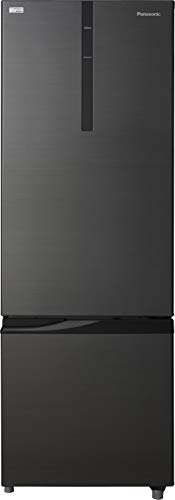 Panasonic 296 L 2 Star Frost Free Double Door Refrigerator NR BR307RKX1, Black, Inverter Compressor, Bottom Freezer