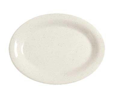 (GET Enterprises inc Santa Fe Centennial Series Ironstone Melamine Oval Platter, 9.75 x 7.25 inch - 24 per)