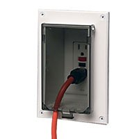 Vertical Box Mount 3 - Arlington DBVR1W-1 Low Profile IN BOX Electrical Box with Weatherproof Cover for Flat Surface Retrofit Construction, 1-Gang, Vertical, White