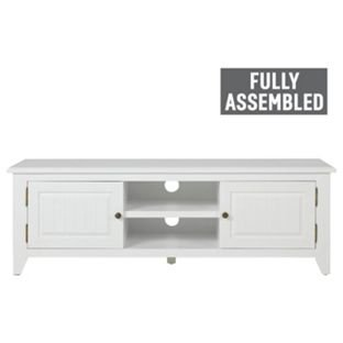 Heart Of House Cambria Tv Stand White Solid Wood Amazoncouk