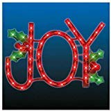 - Lighted JOY Sign - Window-Door Hanging - Indoor/Outdoor Decoration - Holiday Decoration