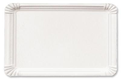 1000 Pappteller 13 x 20 cm eckig weiß der-verpackungs-profi.de