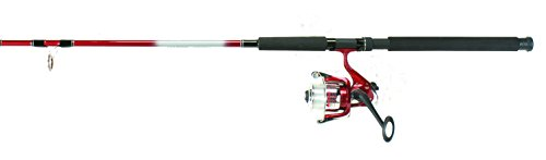 Hunter Roddy (Master Fishing Tackle Master Fishing Roddy 8', 2pc Saltwater Spinning Combo, Red)