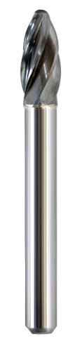 (Shark Shark BT54 2.5-Inch Ball Nosed Carbide Bur, Aluma-Cut, 0.375-Inch Diameter, 0.75-Inch Flute, Made In The US)