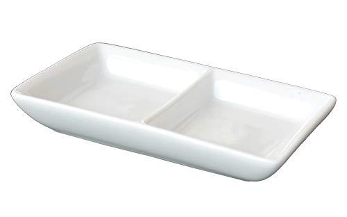Assorted Side Dish Drop Down (Bone White, Twin Dish, 6-Pack)