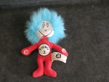 """Rare Kelloggs Cereal Premium Dr Suess Cat in the Hat Thing 1 Thing 2 Mini Plush with Velcro Hands 3.5"""" Tall """"Thing 2"""" Doll Toy"""