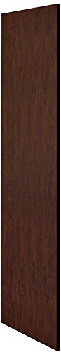 Salsbury Industries 22237MAH Side Panel for 24-Inch Deep Extra Wide Designer Wood Locker without Sloping Hood, Mahogany - Wood Wide Hood
