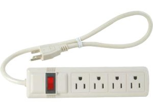 Amazoncom 4 Outlet Power Strip With Shut Off Switch Turns Off