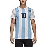 adidas Adult Men's Soccer Messi Tee, White, Large