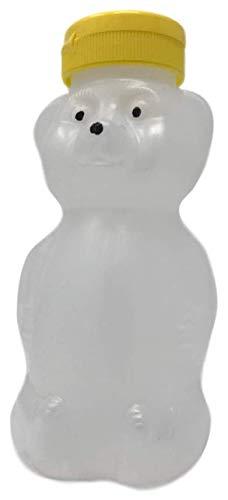 6 pack 12 ounce empty plastic honey bear jar bottles with flip top lid cap squeeze bear party favors translucent soft