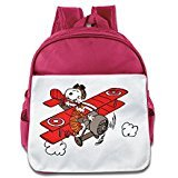Price comparison product image Fennessy Custom Funny Cartoon Dog Teenager School Bag Backpack For 1-6 Years Old Pink