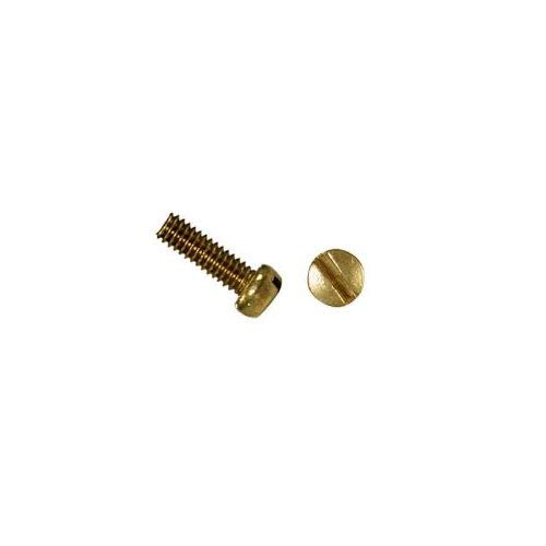 10-24 X 1//2 Slotted Fillister Machine Screw Brass Package Qty 100