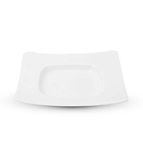 Korin Fusion White Square in Square Plate 10.5