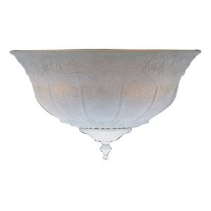 Bowl Glass Shade in Champagne Scavo (Scavo Glass White Shade)