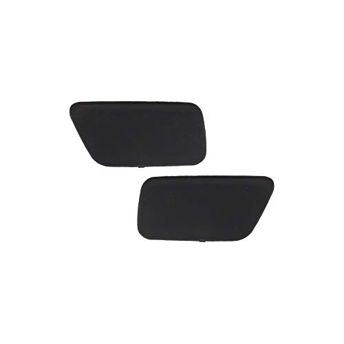 Bumper Cover Headlamp Washer Nozzle Cover for BMW 5-Series 04-10 Front Right and Left Set of 2 Upper