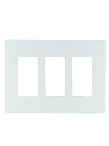Legrand - PASS & SEYMOUR RWP263WCC6 Radiant 3 Gang Screwless Plastic Wall Plate, Decorative wall plate, White -