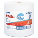 Kimberly-Clark 34955 White WYPALL X60 Wipers, 1100 Sheets, 12.5 x 13.4'' Roll