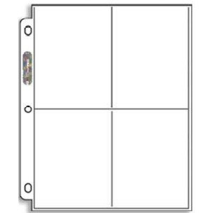 Ultra Pro Platinum Series 4-Pocket Coupon Storage Page (Package of 20 Pages for larger coupons & postcards) (Storage Pages)