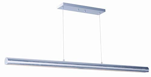 ET2 E41468-SA Alumilux LED Linear Pendant, Satin Aluminum Finish, Glass, PCB LED Bulb, 13W Max., Dry Safety Rated, 3000K Color Temp., Standard Dimmable, Crystal Shade Material, 3000 Rated Lumens