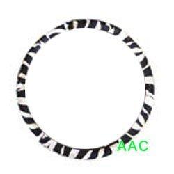 zebra print steering wheel cover - 5