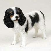 Cavalier King Charles Spaniel, Black/White Original Dog Figurine (4in-5in) ()