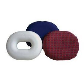 Rose healthcare Memory Foam Donut Tailbone & Coccyx Seat Cushion - Pain Relief Pillow for Hemorrhoid, Prostate, Pregnancy, Post Natal, Post Surgery and Sciatica Memory Foam Large, 18' Diameter