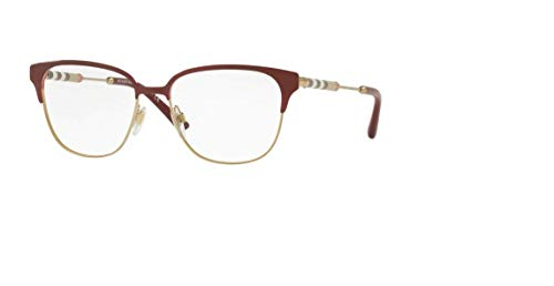 Burberry Women's BE1313Q Eyeglasses Bordeaux/Light Gold ()