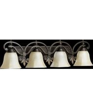 Quorum International 5031-4-86 Vanity Lights with Amber Scavo Shades, Oiled Bronze by Quorum - Amber Scavo Vanity