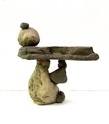Cheap Balancing Rock Birdbath Sculpture Home & Garden Decor Water Feature