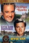 Pied Piper Of Hamelin with Van Johnson / Little Lord Fauntleroy with Mickey Rooney / Diver Dan with Frank Freda DVD